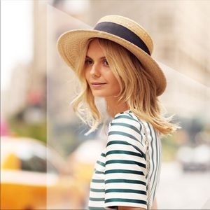 J Crew | Straw Boater Hat Style #C9059